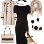 combinacion vestido negro